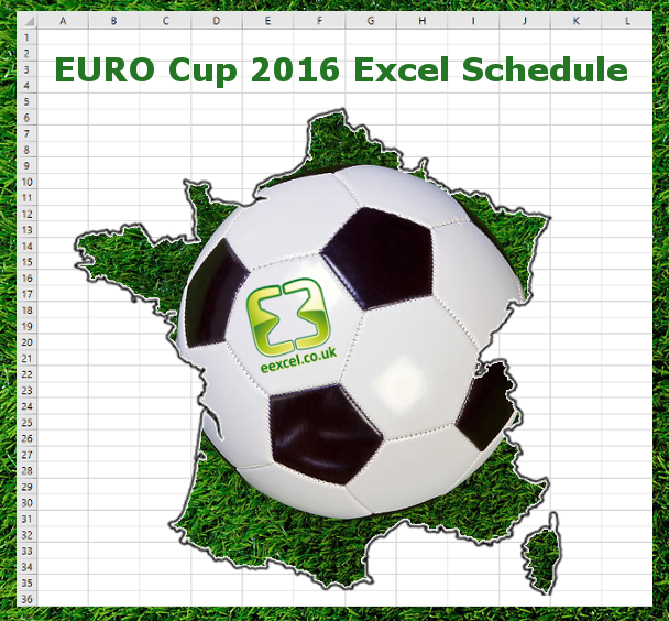 EURO Cup 2016 Excel match schedule