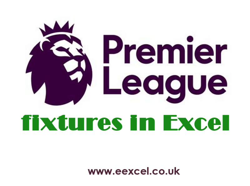 Premier League fixtures Excel